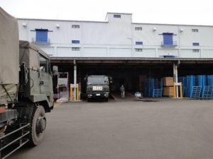 東日本大震災における宮城県物流拠点倉庫