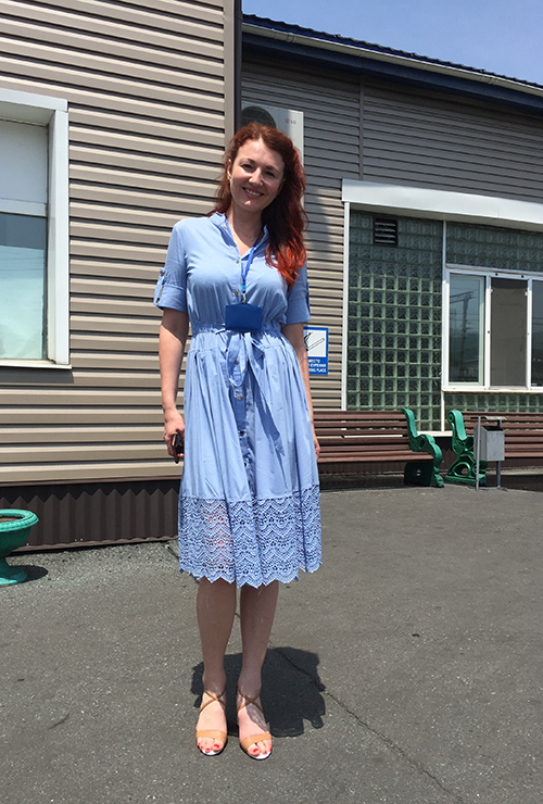 "Vostochnaya Stevedoring Companyのマネジャー (ロシアの""カジュアルフライデー""の装いです。)"